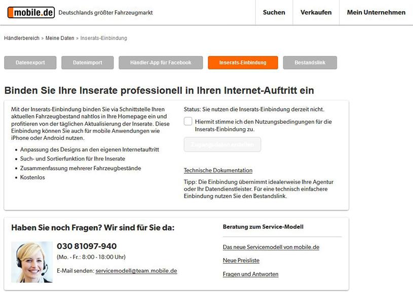 Integration Kfz Web Plugin Für Wordpress