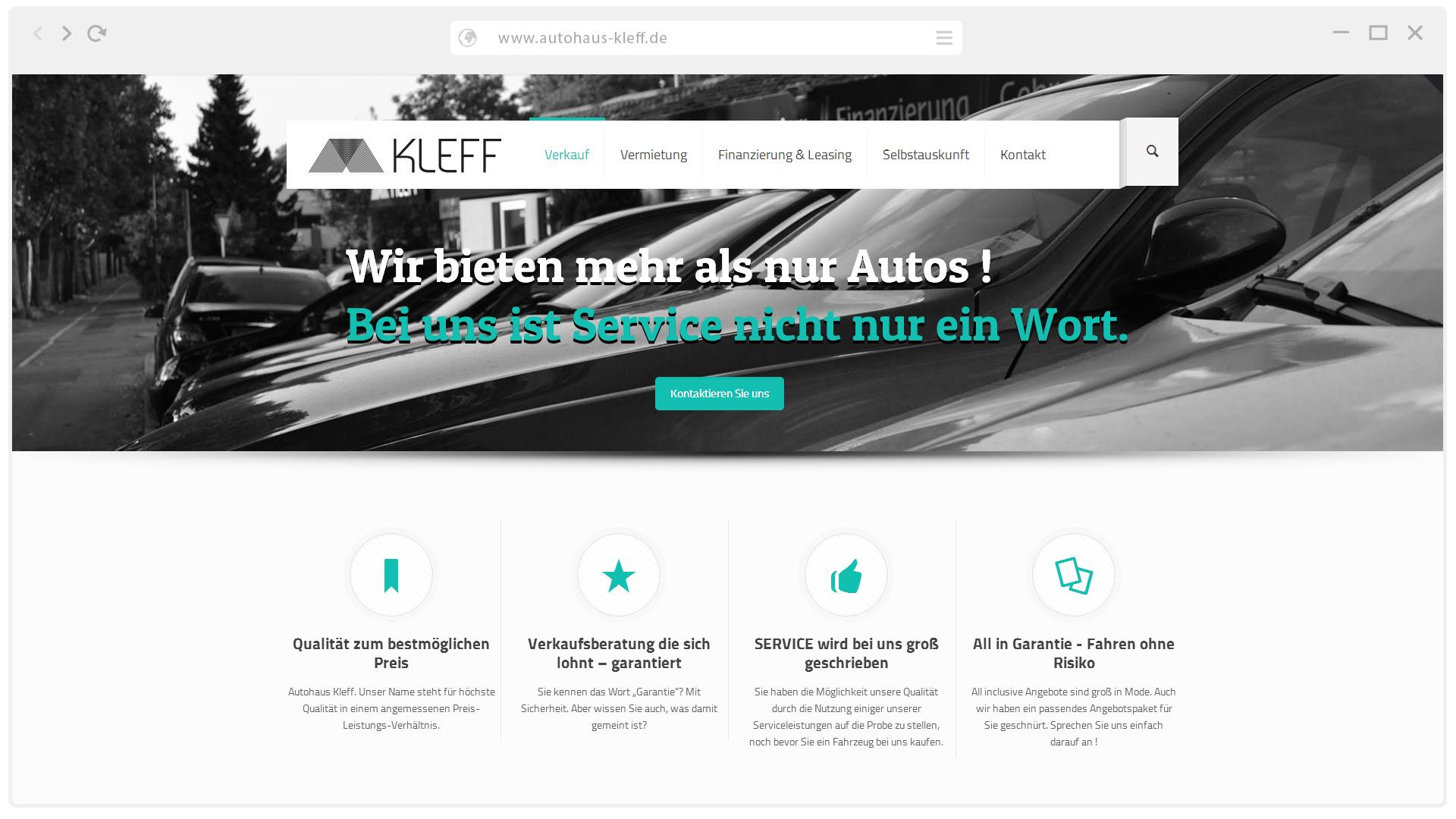 wir d rfen das autohaus kleff als neuen kfz web wordpress plugin kunden begr en kfz web. Black Bedroom Furniture Sets. Home Design Ideas
